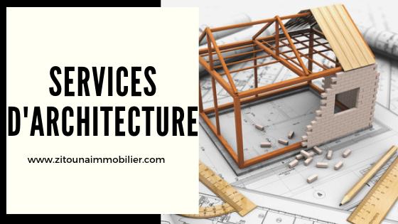 Services d'architecture